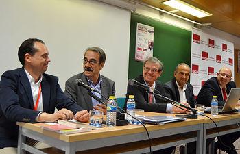 Desde la izquierda, Juan Pedro Molina Lozano, Emilio Ontiveros, Miguel Ángel Collado, Juan Ramón de Páramo y Pedro Gento