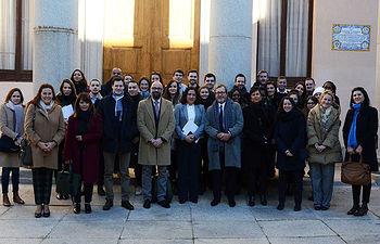 Autoridades, profesores y estudiantes franceses en el Campus de Toledo