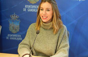 La portavoz del Grupo Socialista, Lucía de Luz.