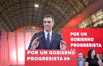 """Pedro Sánchez interviene en la presentación de la propuesta abierta de """"Programa común progresista. Foto: EVA ERCOLANESE"""