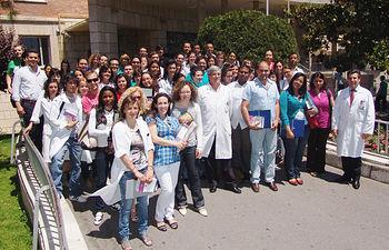 En la imagen, los nuevos residentes que se han incorporado este año al Complejo Hospitalario de Toledo para completar su formación como especialistas.