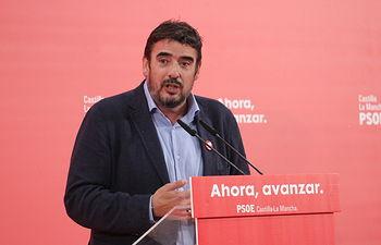 Rafa Esteban, secretario de organización del PSOE de Guadalajara y cabeza de lista al Senado por la provincia.