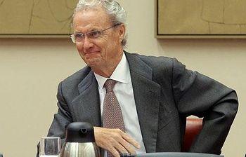 El ministro de Defensa, Pedro Morenés, durante su comparecencia ante la Comisión de Defensa del Congreso (Foto: EFE)