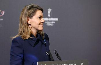 María Dolores Cospedal, durante la presentación del programa oficial de los actor de la conmemoración de El Greco.