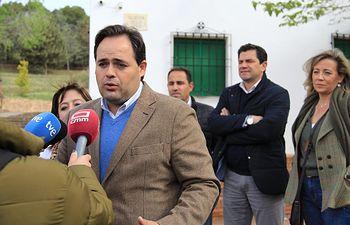 Paco Núñez visita Villarrubia de los Ojos (Ciudad Real).