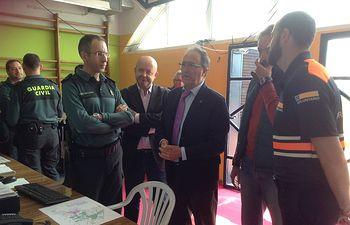 Federico Pozuelo visita el Centro de Coordinación de Seguridad del Viña-rock, CECOPAL, en Villarrobledo