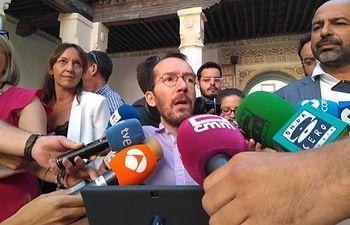 El secretario de Organización de Podemos, Pablo Echenique. Foto: Europa Press