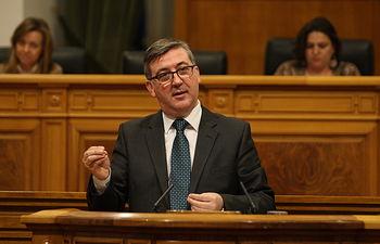 Marcial Marín interviene en Pleno Cortes_030414. Foto: JCCM.