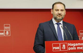 Rueda de prensa de José Luis Ábalos, secretario de organización