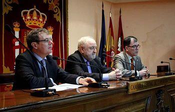 Miguel Ángel Collado, Diego Carcedo y José Ignacio Albentosa.