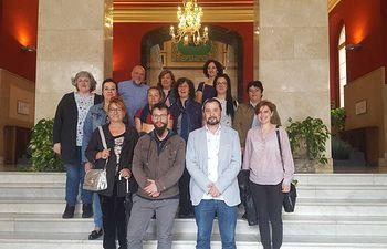 Jorge Vega, Diputado Provincial de Izquierda Unida, se reúne en la Diputación de Toledo con las trabajadoras de Gestipack.