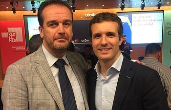 Antonio Martínez y Pablo Casado. Imagen de archivo.
