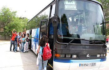 Transporte Escolar. Foto de archivo.