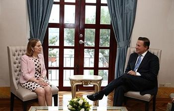 Ana Pastor y Juan Carlos Varela. Foto: Ministerio de Fomento.