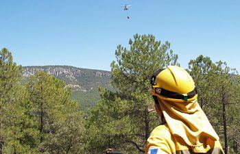 El Gobierno de Castilla-La Mancha informa que el incendio de Cañamares se encuentra ya estabilizado