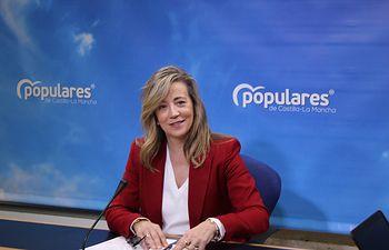 Lola Merino, en rueda de prensa.