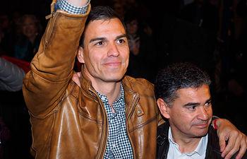 Pedro Sánchez y Manuel González Ramos