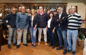Carmen Picazo en Bodegas Piqueras en Almansa.