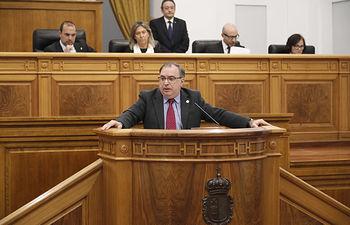 Fernando Mora, presidente del grupo parlamentario socialista en las Cortes de Castilla-La Mancha. Foto: CARMEN TOLDOS