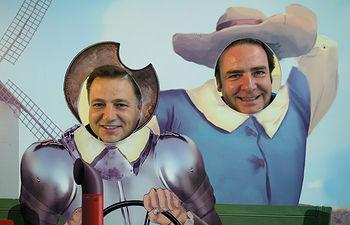 Manuel Serrano, alcalde de Albacete, y Juan Martínez Moraga, presidente de la IFAB