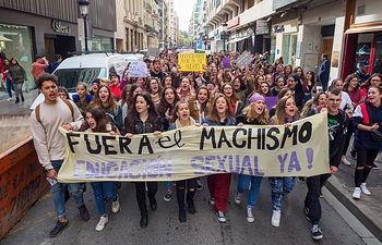 Manifestación contra el machismo en Albacete