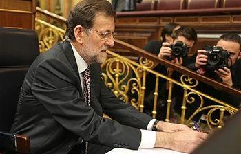 Mariano Rajoy en el Congreso. Foto: Pool Moncloa.