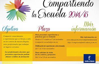 Cartel del Programa Compartiendo la Escuela. Foto: JCCM.