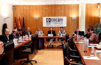 Marta García clausura la Asamblea General de FERECO-1. Foto: JCCM.