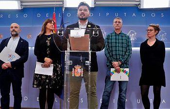 Manifiesto independentista - Rufian y otros - Foto RTVE.