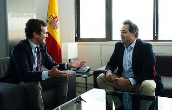 Casado se reúne con Núñez para fijar los ejes de trabajo de los próximos cuatro años del PP en C-LM