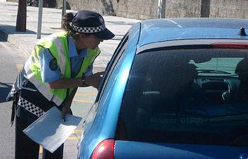 Control de la policía.
