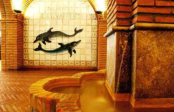Imagen del Balneario Cervantes, en Santa Cruz de Mudela (Ciudad Real), uno de los balnearios que participan en el programa de termalismo social de la Junta.