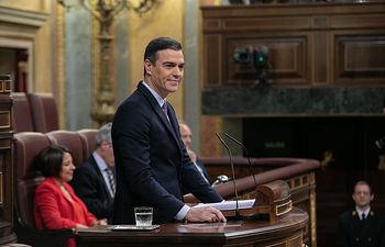 Pedro Sánchez durante la sesión de investidura. . Foto: EVA ERCOLANESE