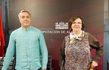 José Ignacio Díaz y Victoria Delicado.