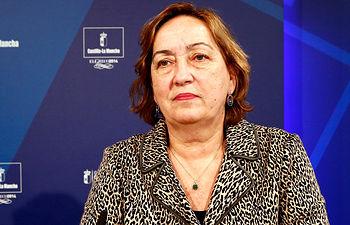 Soriano en la rueda de prensa Consejo Gobierno_06-02-14. Foto: JCCM.