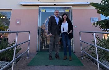 Juan Antonio Callejas ha visitado  el Centro Alöis de la capital