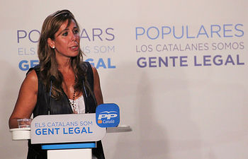 La presidenta del PP de Cataluña, Alicia Sánchez-Camacho