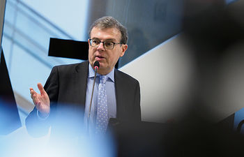 Miguel Ángel Collado, rector de la Universidad de Castilla-La Mancha. Foto: Manuel Lozano García / La Cerca