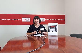 Caridad Ballesteros, portavoz del Grupo Municipal Socialista en el Ayuntamiento de Villarrobledo.