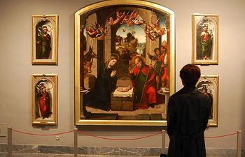 Imagen del 'Pentecostés' pintado hacia 1560-1565 por el autor de Mascaraque, Juan Correa de Vivar, que se puede ver en la exposición dedica a él en el Museo de Santa Cruz de Toledo, y que ha sido organizada por el Gobierno de Castilla-La Mancha, en colaboración con otras instituciones.