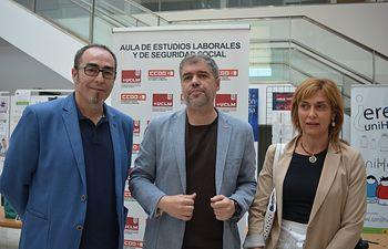 Paco de la Rosa, Unai Sordo y Carmen Juste.