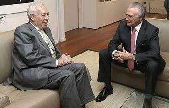 Encuentro de García-Margallo con el Vicepresidente de Brasil Michel Temer (EFE). Foto: EFE.