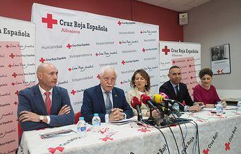 Presentación de la memoria de Cruz Roja con motivo del Día Internacional de la Cruz Roja, en la sede provincial de Albacete.