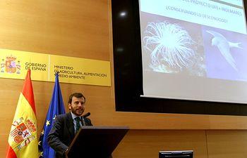 Presentación resultados INDEMARES. Foto: Ministerio de Agricultura, Alimentación y Medio Ambiente