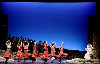 Imagen del montaje 'La vida es breve', de Manuel de Falla, que junto a 'Cavalleria Rusticana', de Pietro Mascagni se representará en nueve escenarios de la región gracias a la Red de Teatros del Gobierno de Castilla-La Mancha.