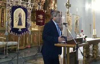 Semana Santa 2013 en El Bonillo (Albacete). En la imagen, Juan Gil, alcalde de El Bonillo.