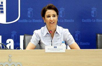 Marta García de la Calzada en rueda de prensa. Foto: JCCM.