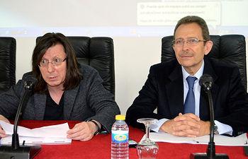 De izqda. a dcha.: Óscar Bajo y Vicente Orts, en la inauguración del seminario.