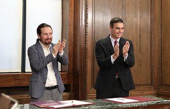 resentación del programa de Gobierno del PSOE y Unidas Podemos, en el Congreso. . Foto: Inma Mesa Cabello