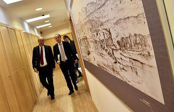 El vicepresidente de Castilla-La Mancha, José Luis Martínez Guijarro, se reúne con el alcalde de Guadalajara, Alberto Rojo